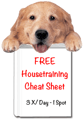 House Training Cheat Sheet Housetraining